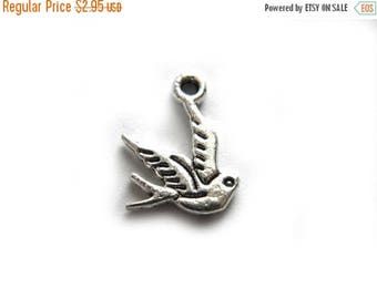 HALF PRICE 10 Silver Bird Charms