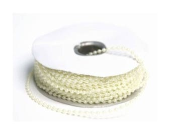 3 metre wire beads 5 mm wire - ivory