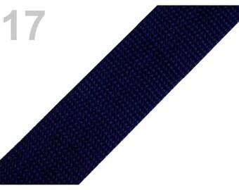 17 - Blue strap Navy polypropylene 30 mm