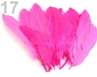 017 - Set of 5 hot pink goose 16/21 cm