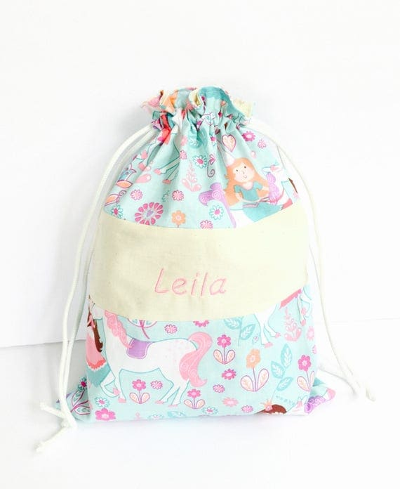 Personalized bags for kids Personalized drawstring bag