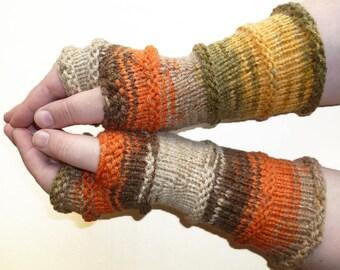 Knit Fingerless gloves | Arm warmers | Womens Fingerless | Long Fingerless Mittens | Wrist warmers Hand warmers
