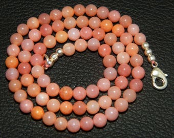 on Shop sale wholesale price 62.00 ct Approxx 1 strands Natural Pink Opal Round Smooth Beads pink opal size 5 mm 16.5 inch strand