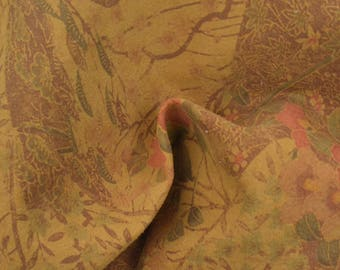 "Fashion Oriental Vintage Garden Leather Pig Hide 8"" x 10"" Project Piece 1 oz TA-56806 (Sec. 4,Shelf 7,B)"