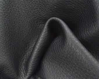 "Blacktop Leather New Zealand Deer Hide 12"" x 12"" Pre-cut 2 1/2 ounces TA-57784 (Sec. 5,Shelf 7,A)"