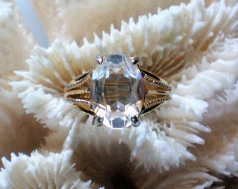 Rock Crystal Solitaire Statement Ring - 5525