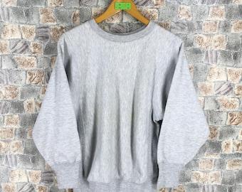 CHAMPION USA Jumper Mens Small Streetwear Vintage 80s Champion Reverse Weave Sports Pullover Gray Sweaters Champion Sweatshirts Size S