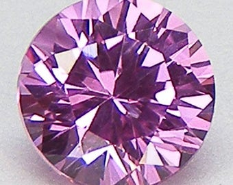 Excellent Cut Pink Sapphire Round Brilliant Cut 7 mm Loose Lap Sapphire Loose Gemstone for Pendant