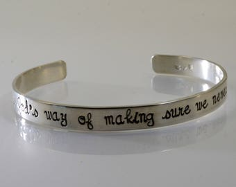 Sterling Silver Cousin Bracelet - A Cousin Is God's Way...
