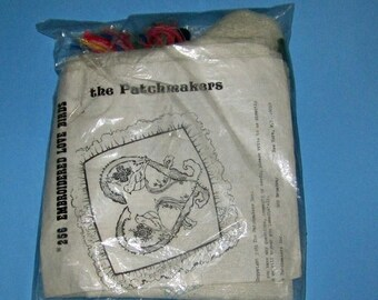 SALE The Patchmakers Pillow Kit 256 Embroidered Love Birds New Unopened Vintage 1981