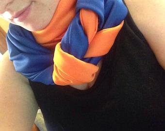 Oklahoma City thunder scarf/ blue and orange scarf