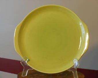 Vintage 12-inch Round Yellow Platter
