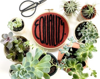 EQUALITY Embroidery Pattern by Sarah K. Benning - 50% of EQUALITY proceeds are donated to the Southern Poverty Law Center
