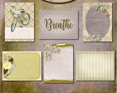 Digital Scrapbook: Inner Calm 3x4 Journaling and Decorative Cards 1
