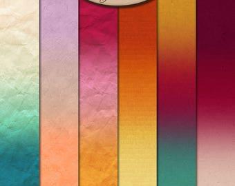 Digital Scrapbooking, Ombre, Paper: Autumn Joys