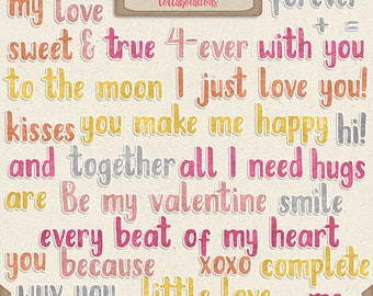 Digital Scrapbooking, Word Art: Word Bits, Forever And A Day