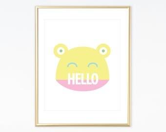 Digital Download Print - Hello Frog Art Print