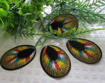 accessory customization iron patch peacock eye thermocollant iron patch rainbow