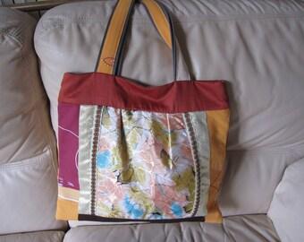 Tote bag, beach bag, multicolor tote bag