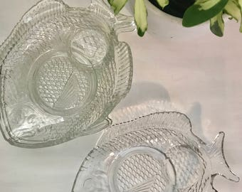 Fish glass dish set