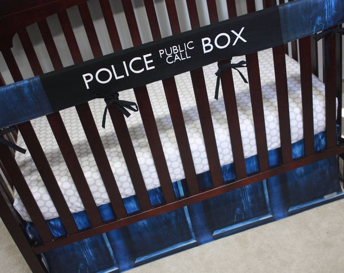 Doctor Who Baby Bedding--The Tardis--Build Your Own Custom Crib Bedding