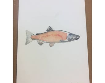 Coho Salmon Trail Painting