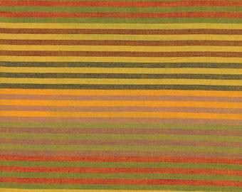 CATERPILLAR Woven Stripe YELLOW WCATERYELLO by Kaffe Fassett fabric sold in 1/2 yard increments