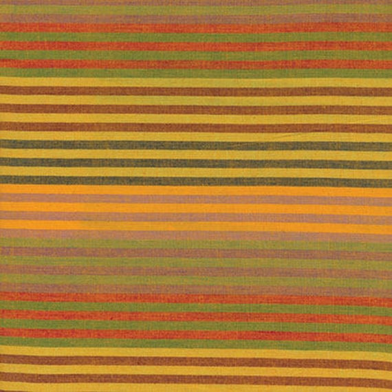 CATERPILLAR Woven Stripe YELLOW WCATERYELLO by Kaffe Fassett fabric sold in 1/2 yard increments