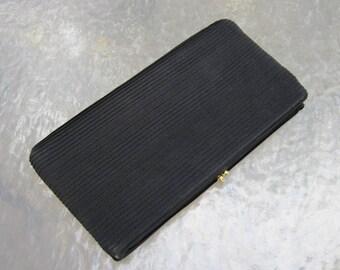Vintage Harry Levine black clutch purse from estate