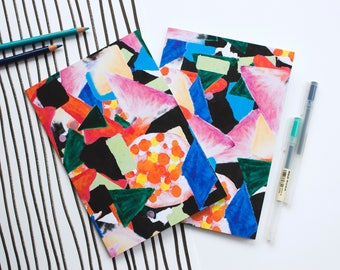 A5 notebook - Lined - Colourful pattern - Hand drawn