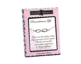 Sterling Silver Sympathy Gift Infinity Necklace in a Gift Box (RGN-Infinity)
