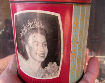 Queen Elizabeth II Tin Can