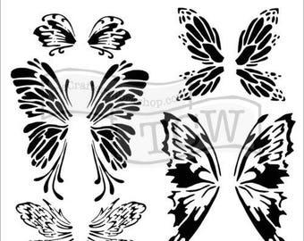 TCW Crafter's Workshop MINI FAIRYWINGS 6x6 Stencil Paint Mixed Media # TCW668s