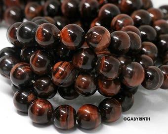 Red Tiger Eye Round Beads 4mm