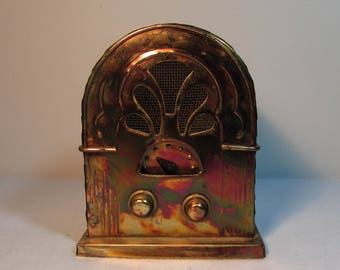 Copper Art Radio Music Box by Berkeley Designs Plays Memory
