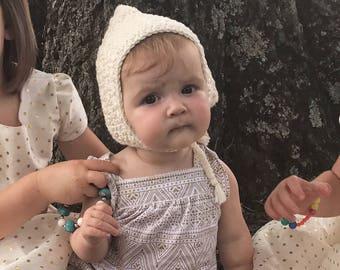 Pixie Bonnet, Baby Pixie Bonnet, Newborn Pixie Hat, Baby Pixie Hat, Baby Bonnet, Newborn Hat, Baby Photo Prop