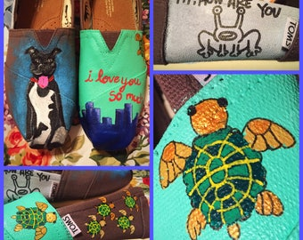 Custom painted Austin, Texas Toms. Designed and personalized just for you!