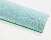Pastel Blue Chunky Glitter Fabric 1.0mm Thickness Sheet A5 orA4 Size Glitter Fabric -  8X11 Glitter Sheet