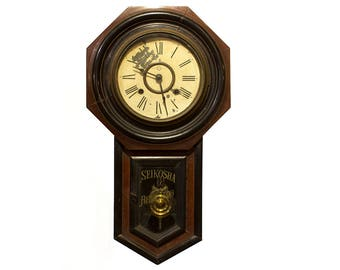 Japanese Antique Wall Clock - FREE SHIPPING