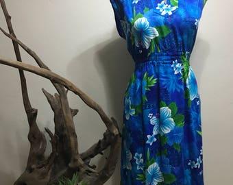 Vintage Hawaiian Sundress - Fliral Hawaiian Sundress - Handmade Hawaian Sundress