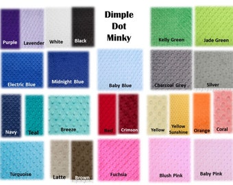 Mini fitted sheet for bassinet or small mattress, Choose Your Minky Color. Can be custom made to fit any small mattress