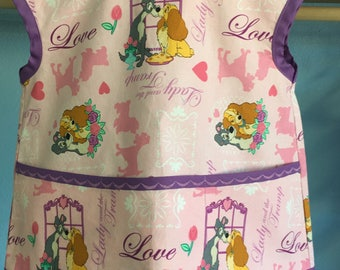 Toddler Apron lady and the tramp fabric