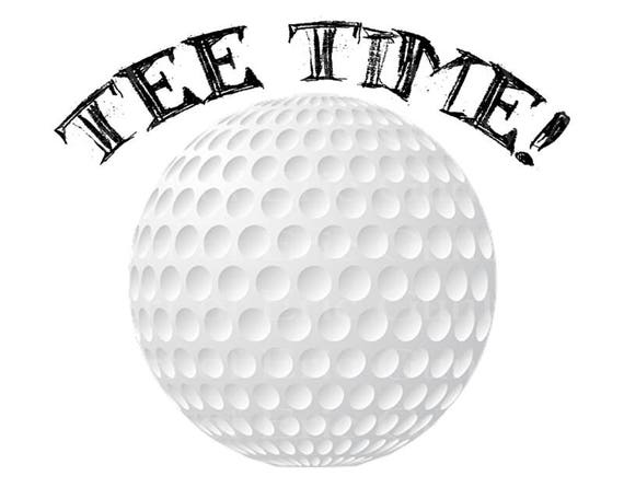 Tee Time! Golf Ball Happy Birthday - Edible Cake and Cupcake Topper For Birthday's and Parties! - D22753