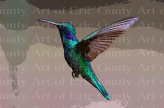 Hummingbird Birthday - Edible Cake and Cupcake Topper For Birthday's and Parties! - D22761