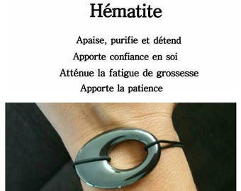 Hematite Donut bracelet