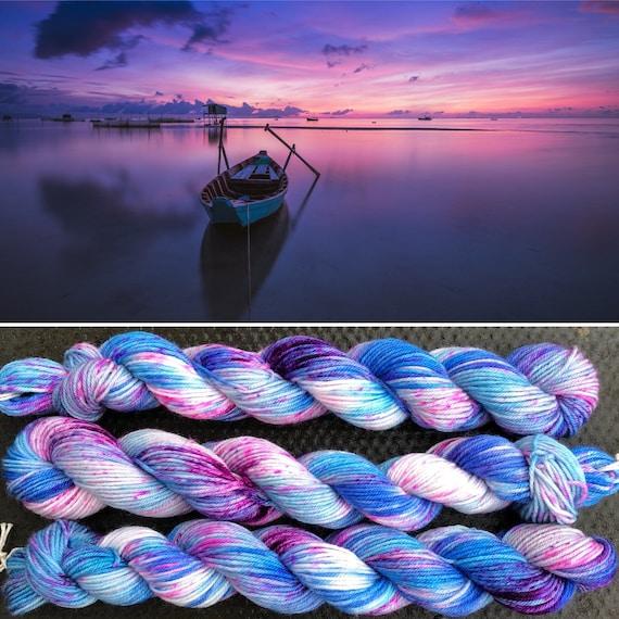 Summer Evening 20g Miniskein, merino nylon blend speckled sock yarn