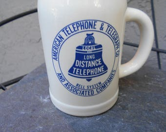 American Telephone & Telegraph Long Distance Telephone Bell System and assassinated companies coffee mug