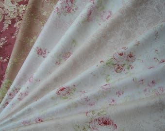 "Bundle of 1/8 Quilt Gate Premier Mary R Collection Beautiful Roses Jacquard Collection Set. Approx. 9"" x 21"" Made in Japan"