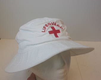 Life Guard 90s bucket hat cap beach vintage