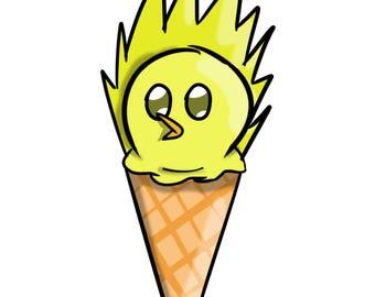 Team Instinct Ice Cream Cone Print
